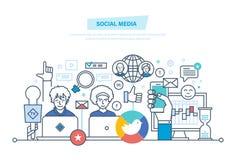 Social media. Planning, digital marketing, advertising, promotion in social network. Social media concept. Media planning, digital marketing, advertising Royalty Free Stock Photography