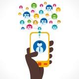 Social media concept royalty free illustration