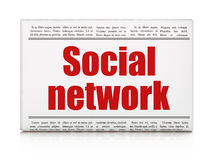 Social media concept: newspaper headline Social Network Stock Photos