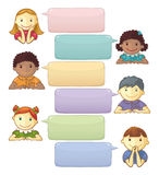 Template With Speech Bubbles And Personages royalty free illustration