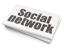 Social media concept: Social Network on Blank Newspaper background Royalty Free Stock Image