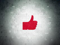 Social media concept: Thumb Up on Digital Paper Royalty Free Stock Photo