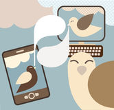 Social Media -concept vector illustration Royalty Free Stock Images