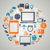 Social media concept vector illustration Stock Image
