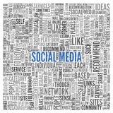 Social media concept in word tag cloud Royalty Free Stock Photography
