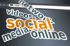 Social media concept words Royalty Free Stock Photo