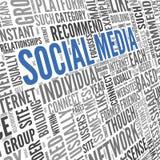 Social Media conept im Worttag-cloud Stockfotografie