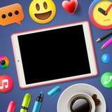 Social media connecting blog Stock Photos