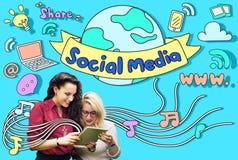 Social Media Connection Communication Internet Concept stock photos