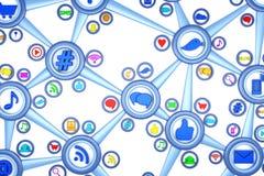 Social Media. Connection - 3d render Stock Photo