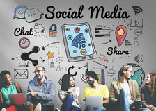 Social Media Connection Global Communication Concept Royalty Free Stock Photography
