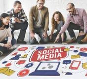 Social Media Connection Global Communication Concept Stock Photos