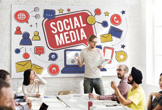 Social Media Connection Global Communication Concept Stock Images