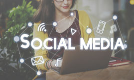 Social Media Connection Graphics Concept Royalty Free Stock Image
