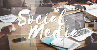 Social Media Connection Networking Chat Concept Royalty Free Stock Images