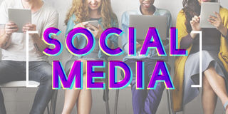 Social Media Connection Networking Chat Concept Royalty Free Stock Photo