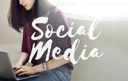 Social Media Connection Networking Chat Concept. Social Media Connection Networking Chat Royalty Free Stock Images