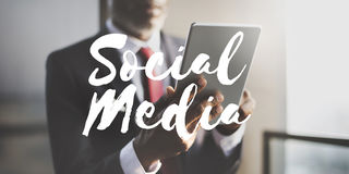 Social Media Connection Networking Chat Concept. Businessman Social Media Connection Networking Concept Royalty Free Stock Images