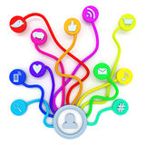 Social media connections Stock Images