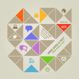 Social media content template with icons Stock Image
