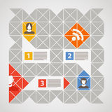 Social media content template with icons stock illustration