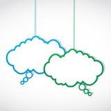 Social media conversation cloud Stock Photo