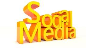 Social media. 2d design of 3d words Royalty Free Stock Photo