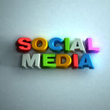 Social Media 3D word Stock Image