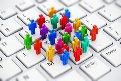 Social Media, das Geschäftskonzept vermarktet Lizenzfreies Stockbild