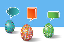 Social media decorative Easter eggs Royalty Free Stock Image