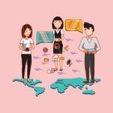 Social media design vector illustration