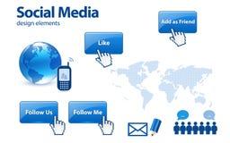Social media design elements Royalty Free Stock Images
