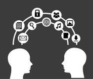 Social media design Stock Images