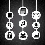 Social media design. Social media graphic design , vector illustration Royalty Free Stock Photo