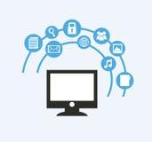 Social media design. Social media graphic design , vector illustration Royalty Free Stock Photos