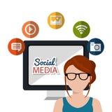 Social media design. Illustration eps10 graphic Stock Image