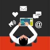 Social media design Stock Image