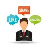 Social media design Royalty Free Stock Images