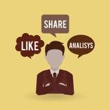 Social media design Royalty Free Stock Image