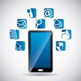 Social media design. Illustration eps10 graphic Stock Images