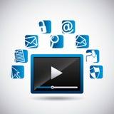 Social media design. Illustration eps10 graphic Royalty Free Stock Photography