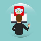 Social media design. Illustration eps10 graphic Royalty Free Stock Image