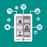 Social media design,  illustration. Social media icon design,  illustration Royalty Free Stock Images