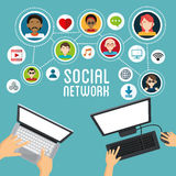 Social media design. Networking icon. Technology concept Royalty Free Stock Image
