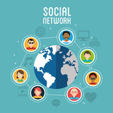 Social media design. Networking icon. Technology concept Royalty Free Stock Photo