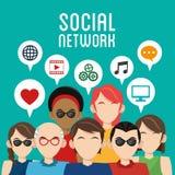 Social media design. Networking icon. Technology concept Royalty Free Stock Photos