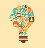 Social media design. Over beige background, vector illustration Stock Images
