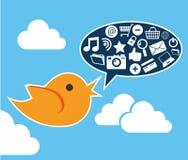 Social media design. Over blue background vector illustration Stock Photo