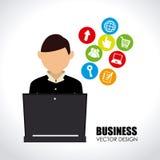 Social media design. Over blue background vector illustration Royalty Free Stock Photo