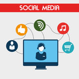 Social media design Stock Image